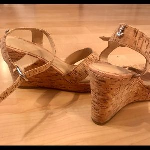 NAUTICA cork wedge sandals size 8